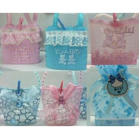 Pack 20 Recuerdos Bolsa Baby Shower