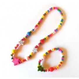 Set collar y pulsera colores