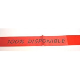 Banda 100% Disponible roja