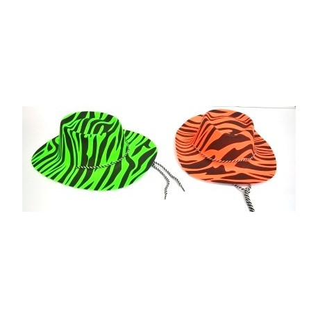 Gorro Vaquero Animal Print Flúor - Festday 970f2fee104